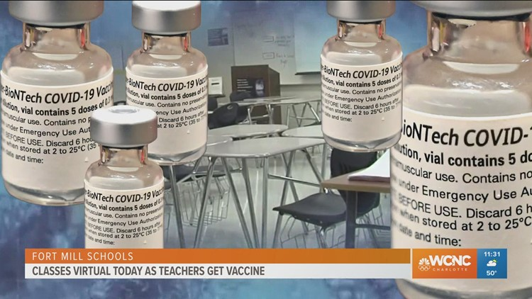 Over 500 Fort Mill teachers get COVID-19 vaccine Friday