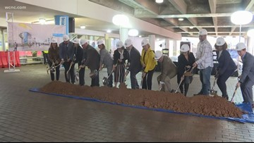 Charlotte airport officials break ground on lobby expansion