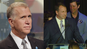 Thom Tillis (R), Cal Cunningham (D) win primaries for U.S. Senate, AP projects