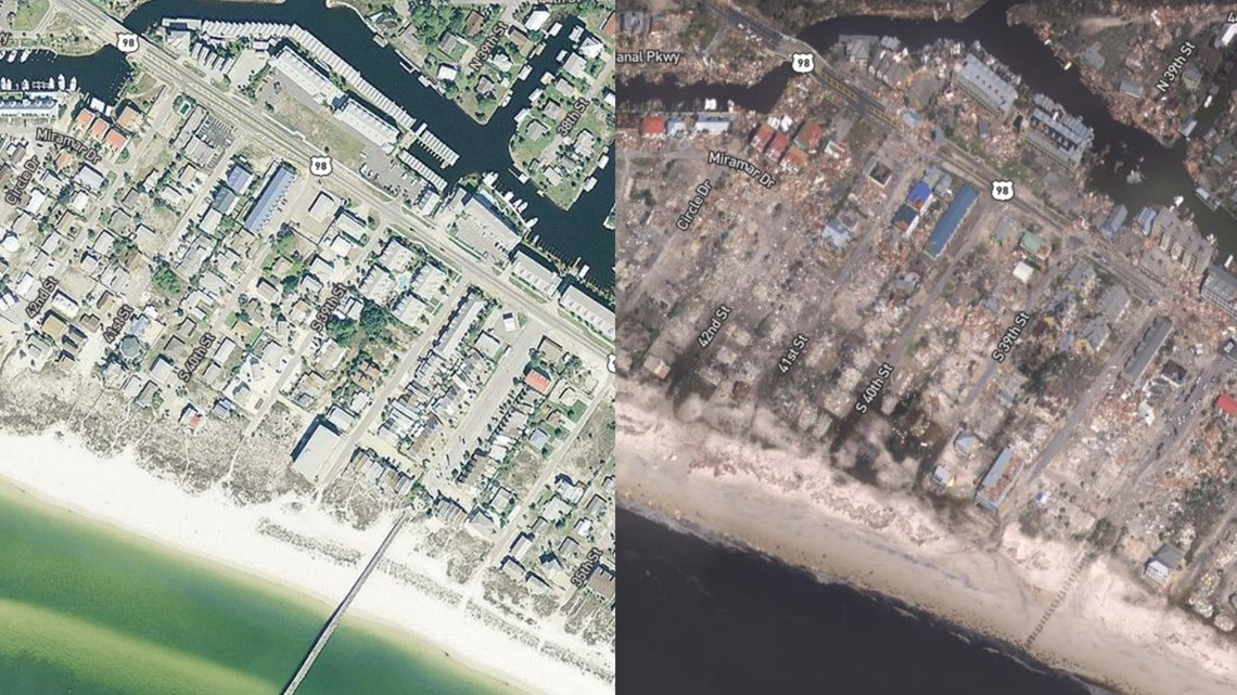 Before And After Images Show Michael S Devastation Along Florida Panhandle Wcnc