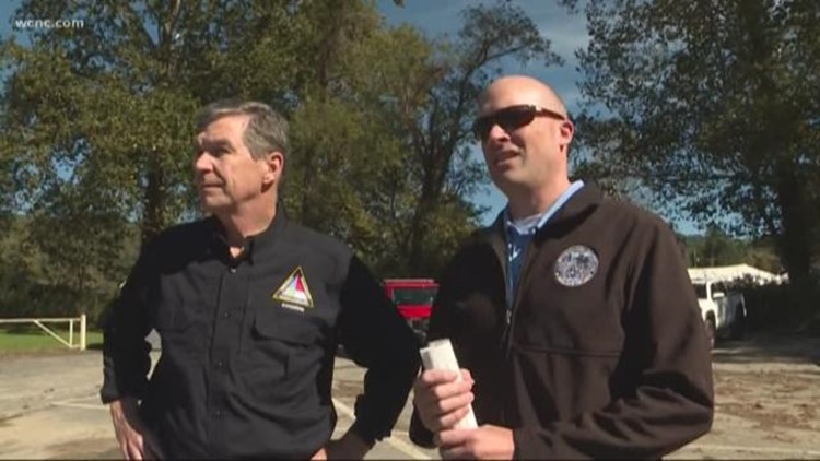 Gov. Roy Cooper surveys NC counties damaged by Tropical Storm Michael