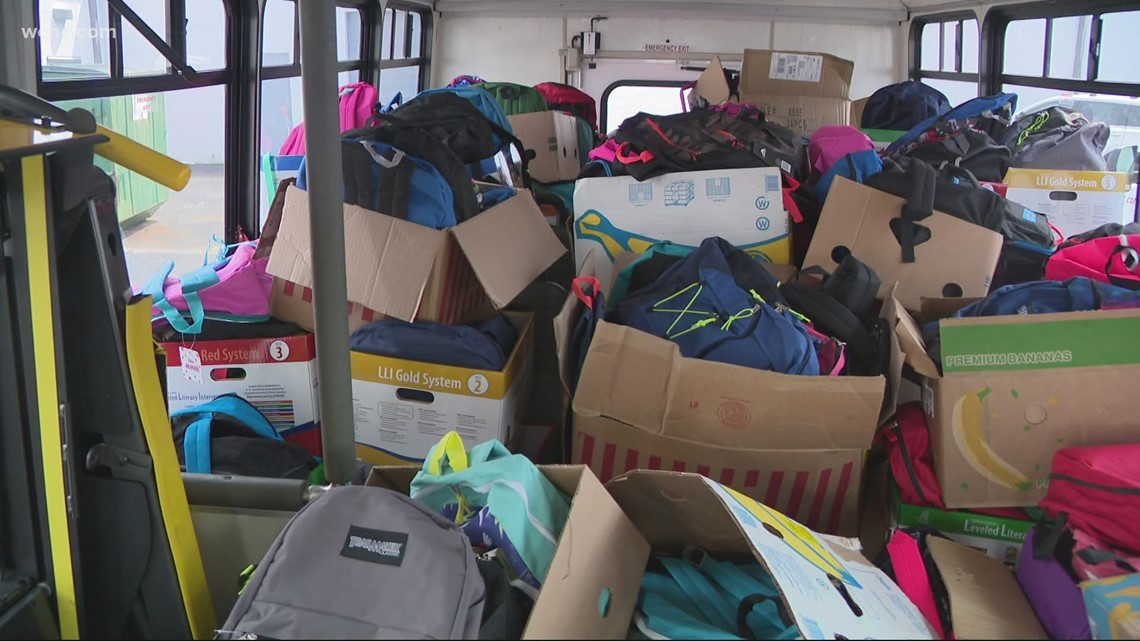 Backpack giveaway held for students in need