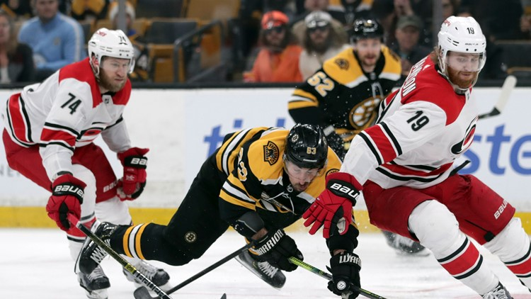 Bruins thump Hurricanes 6-2, take 2-0 lead in East finals
