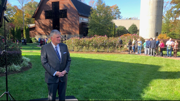 Franklin Graham spent election night with President Trump