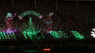Charlotte Motor Speedway Christmas Lights.Charlotte Motor Speedway Transforms Into Winter Wonderland
