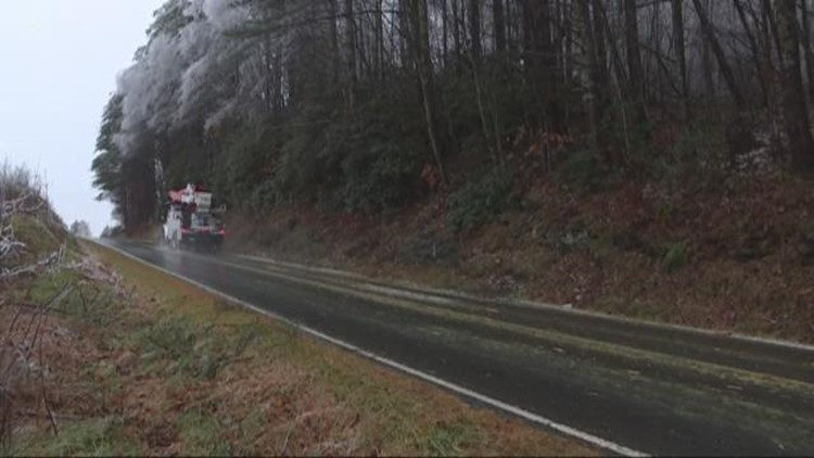 Schools delayed, thousands in the dark after winter storm hits the Carolinas