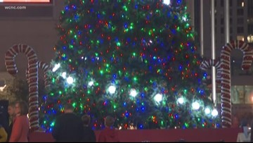 NASCAR Hall of Fame hosts annual tree lighting