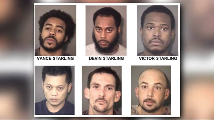Six arrested after Union County Sheriff's narcotics investigation