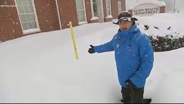 Jim Cantore says the snow is piling up in Boone: 'This is just unbelievable to me'
