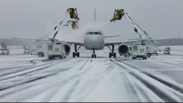 Hundreds of flights canceled due to winter storm in Charlotte