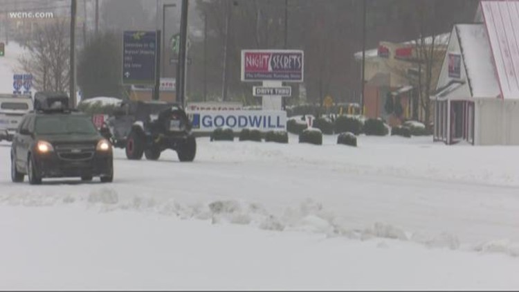 More than a foot of snow falls in Hickory, N.C.