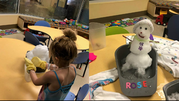 These sick kids in Concord couldn't play in the snow. So staff brought the snow to them