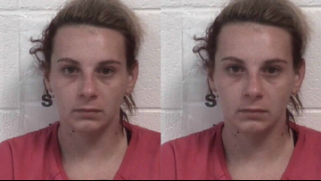 Woman arrested after allegedly stealing packages from porches in Hickory