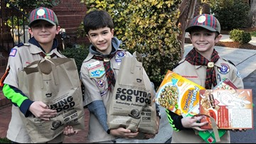 How to donate to Scouting For Food Drive