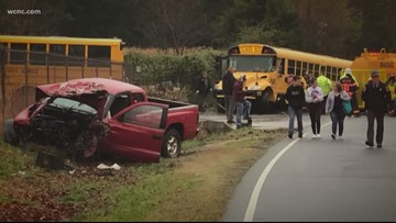 Students hurt after pickup truck collides with school bus, dump truck in Dallas
