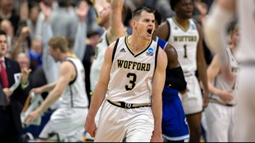 Magee sets record, Wofford tops Seton Hall for first NCAA win