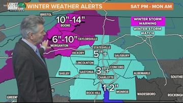Friday 6 a.m. winter storm forecast update