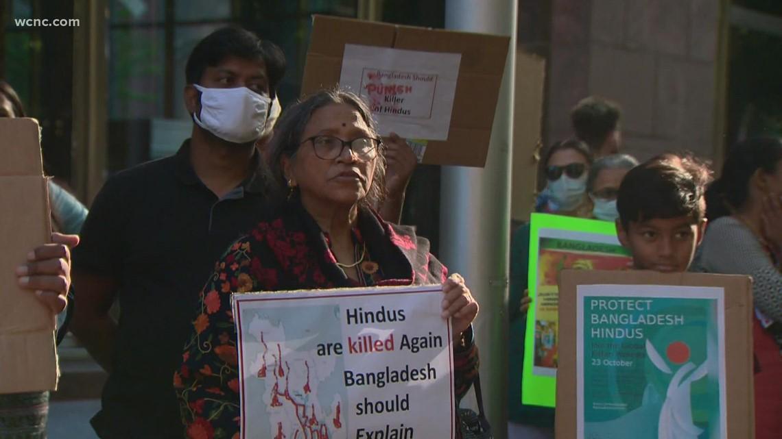 Vigil held to show support for Bangladeshi-Hindu community