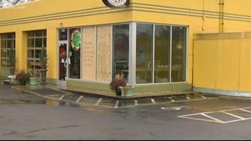 Windows smashed at multiple Charlotte businesses