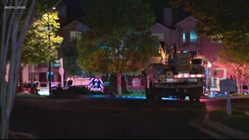 One injured after north Charlotte fire, officials say