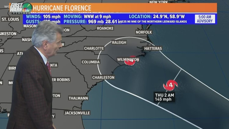 Hurricane Florence 6 A M Update Monday September 10