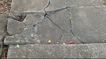 'It's really dangerous': Cracked, crumbling sidewalks causing injuries in Charlotte