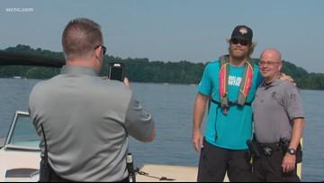 Panthers' Greg Olsen promotes boating safety