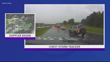 Chevy Storm Tracker headed towards severe thunderstorm