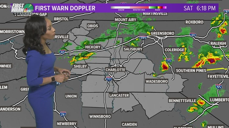 Isolated scattered rain shower expected tonight
