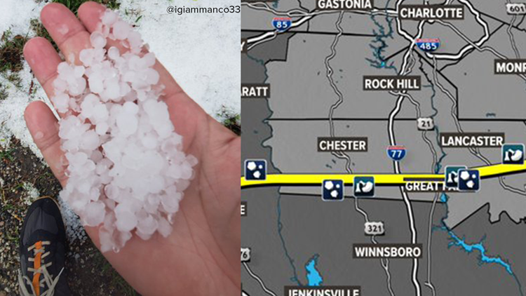 Thursday severe weather drops hail the size of golf balls