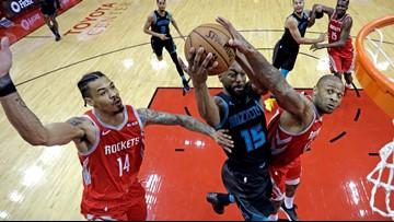 Kemba Walker scores 40 but short-handed Hornets fall to Houston 118-106
