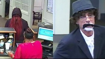 Belmont Police release photos of accused bank robbers