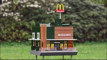 In other news: The world's smallest McDonald's is open — for bees