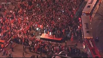 Clemson fans welcome home winning team