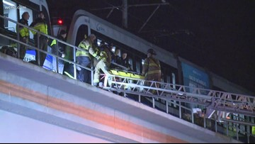 Man hit by light rail train in South End