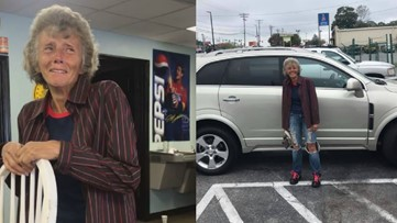 Woman walking 24 miles to and from work surprised with a new car from co-workers, strangers