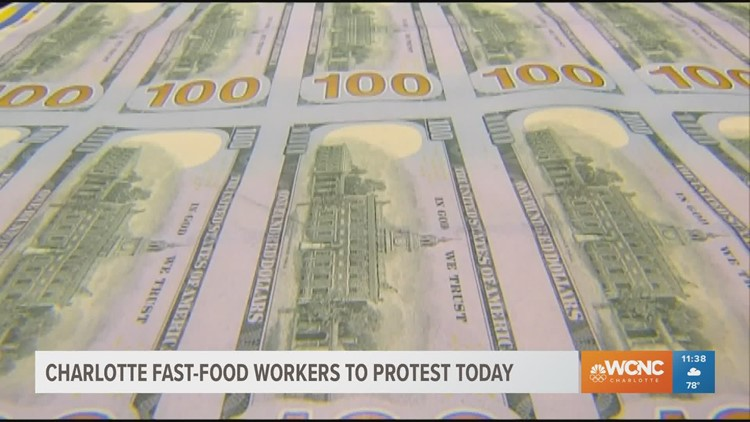 Fast Food and restaurant workers are planning to protest today
