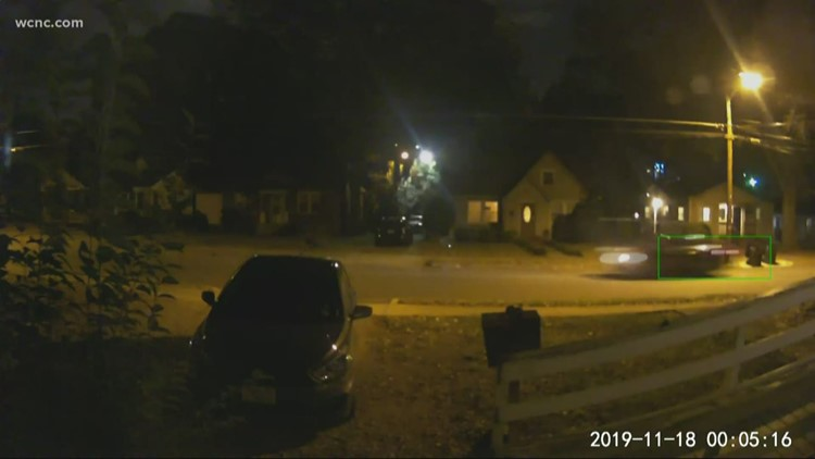 Possible drive-by shooting caught on camera in west Charlotte
