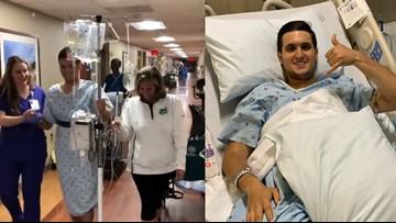 UNC Charlotte shooting victim back in hospital