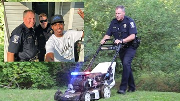 CMPD officers join man on a mission to mow 50 lawns in 50 states for the elderly and disabled