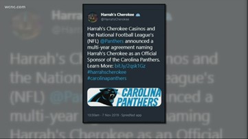 Panthers announce new sponsor: Harrah's Cherokee Casinos