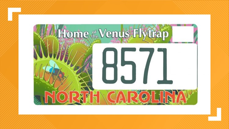 Specialty NC license plate created to help save the Venus flytrap