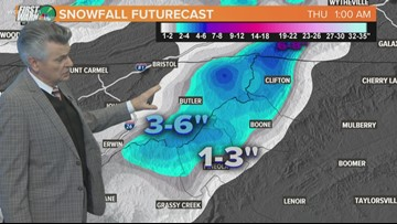Up to 6 inches of snow possible in NC mountains