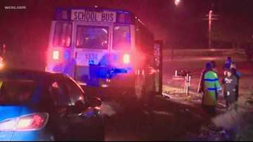 School bus collides with vehicle in southeast Charlotte