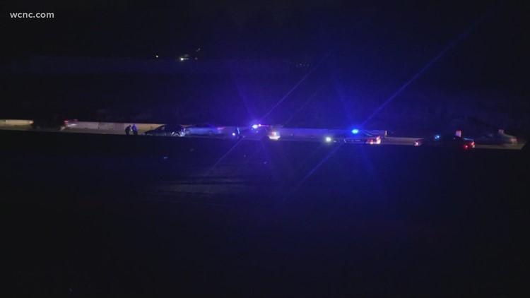 One person injured after Matthews crash on I-485