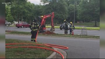 First responders investigate gas leak in Matthews