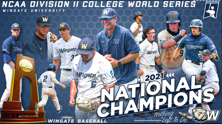 Wingate University wins its first NCAA Division II College Baseball World Series