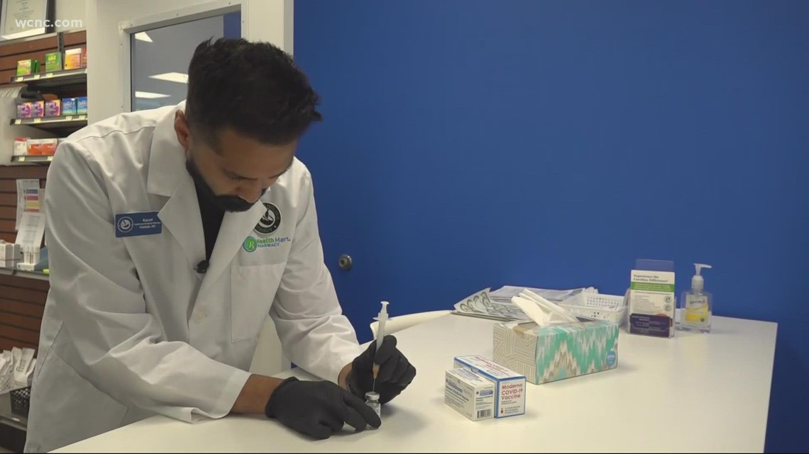 Testing and vaccination numbers have significantly increased, Charlotte pharmacist said
