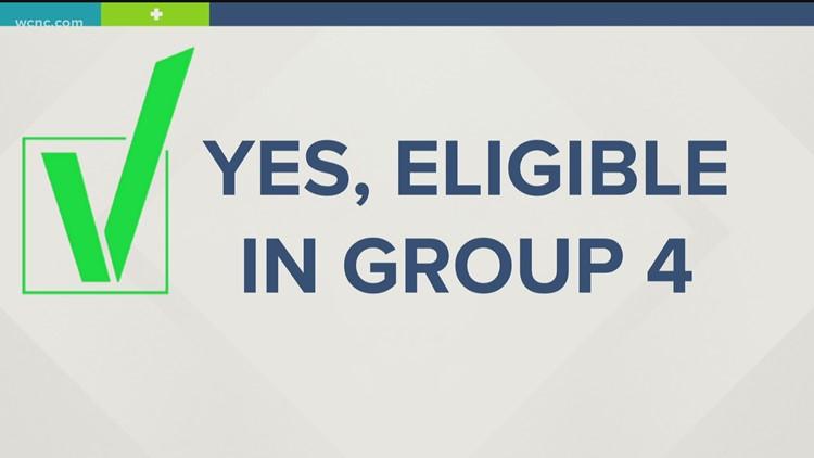 North Carolina updates Group 4 COVID vaccine status