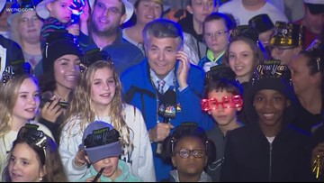 Larry Sprinkle in the crowd at Carowinds Winterfest NYE